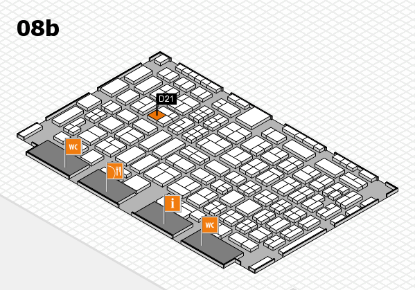 COMPAMED 2016 hall map (Hall 8b): stand D21