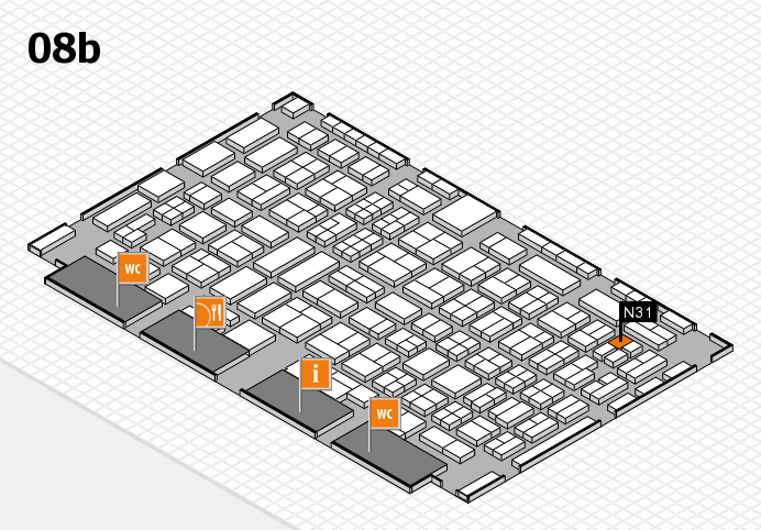 COMPAMED 2016 hall map (Hall 8b): stand N31
