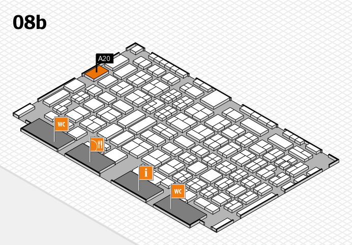 COMPAMED 2016 Hallenplan (Halle 8b): Stand A20