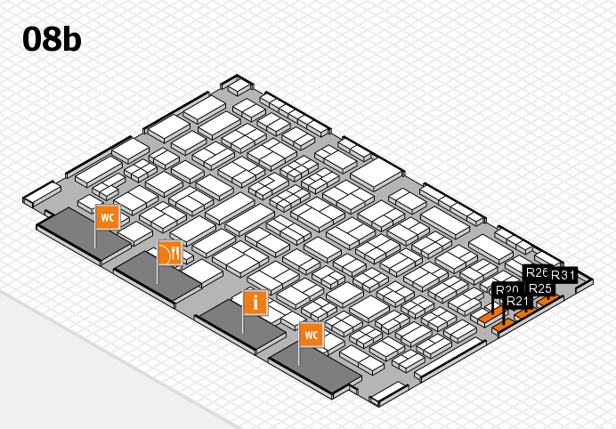 COMPAMED 2016 hall map (Hall 8b): stand R20, stand R31