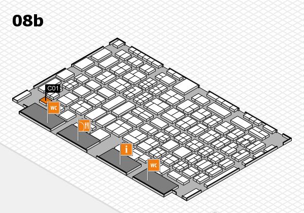 COMPAMED 2016 hall map (Hall 8b): stand C01