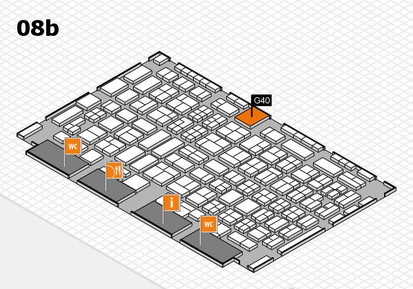 COMPAMED 2016 hall map (Hall 8b): stand G40