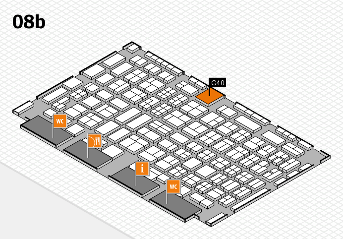 COMPAMED 2016 hall map (Hall 8b): stand G40