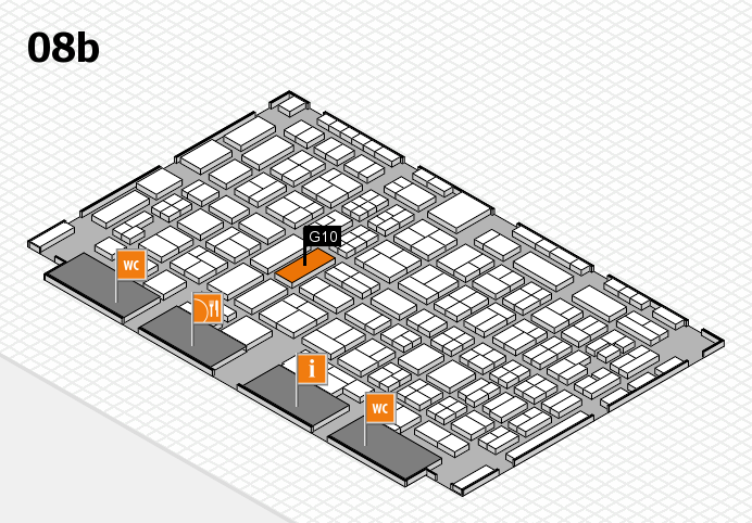 COMPAMED 2016 hall map (Hall 8b): stand G10