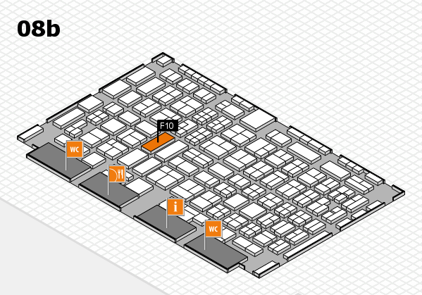 COMPAMED 2016 hall map (Hall 8b): stand F10