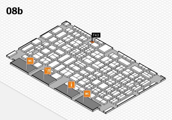 COMPAMED 2016 hall map (Hall 8b): stand F43