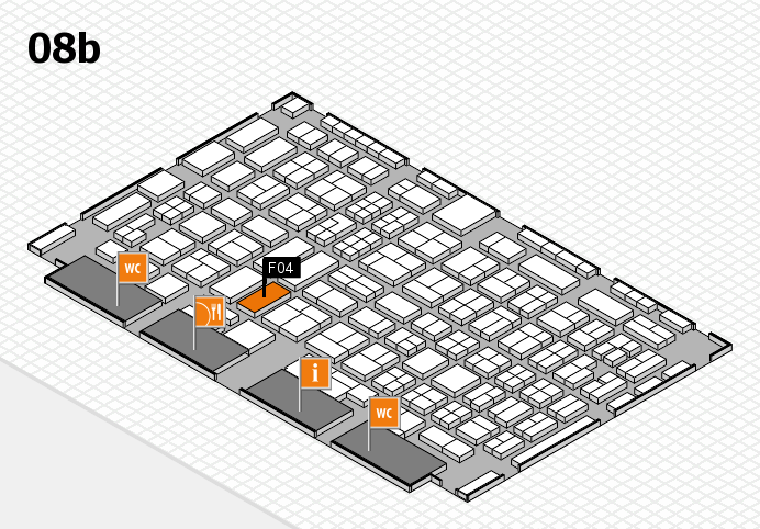 COMPAMED 2016 hall map (Hall 8b): stand F04
