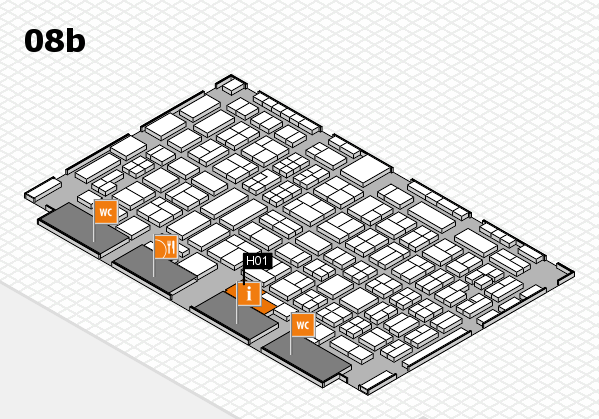 COMPAMED 2016 hall map (Hall 8b): stand H01