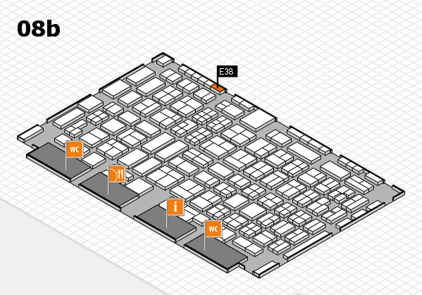 COMPAMED 2016 hall map (Hall 8b): stand E38
