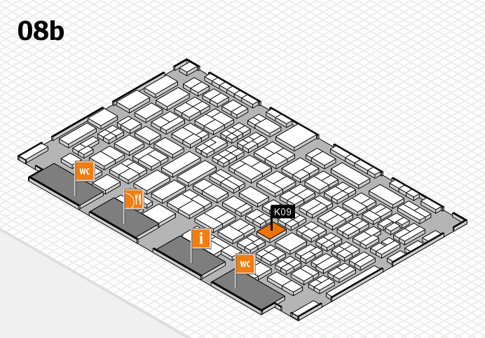 COMPAMED 2016 hall map (Hall 8b): stand K09