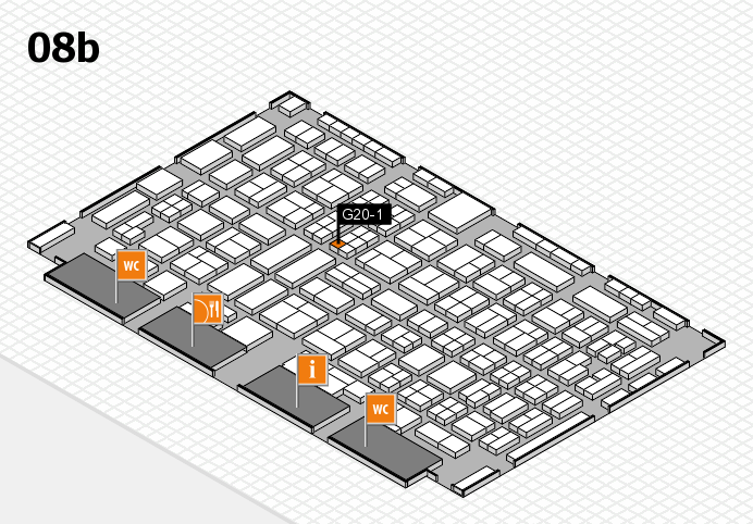 COMPAMED 2016 hall map (Hall 8b): stand G20-1