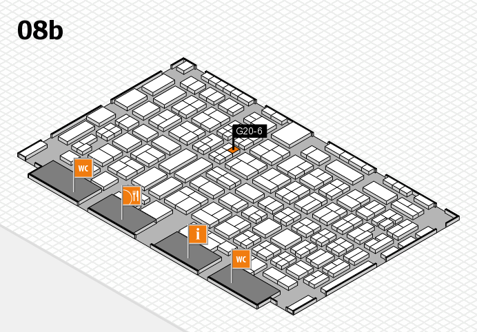 COMPAMED 2016 hall map (Hall 8b): stand G20-6