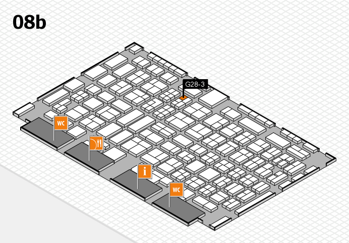 COMPAMED 2016 hall map (Hall 8b): stand G28-3