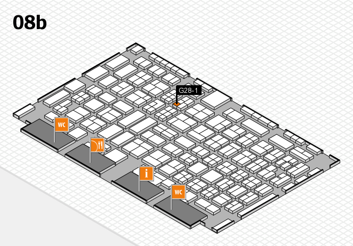 COMPAMED 2016 hall map (Hall 8b): stand G28-1