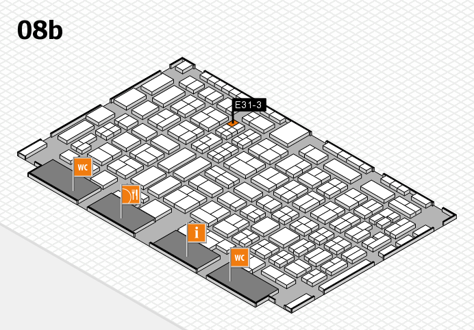 COMPAMED 2016 hall map (Hall 8b): stand E31-3