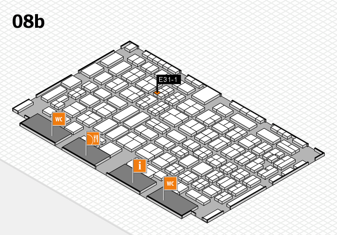 COMPAMED 2016 hall map (Hall 8b): stand E31-1