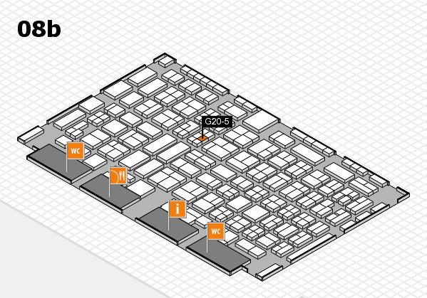 COMPAMED 2016 hall map (Hall 8b): stand G20-5