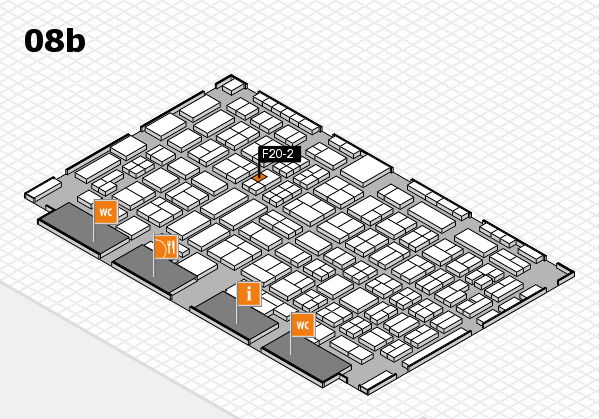 COMPAMED 2016 hall map (Hall 8b): stand F20-2