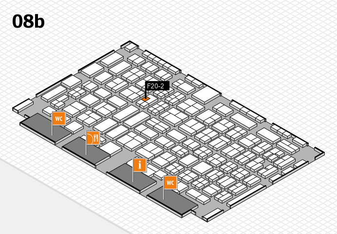 COMPAMED 2016 hall map (Hall 8b): stand F20-2