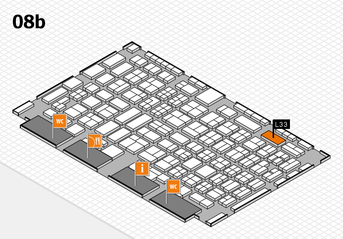 COMPAMED 2016 hall map (Hall 8b): stand L33