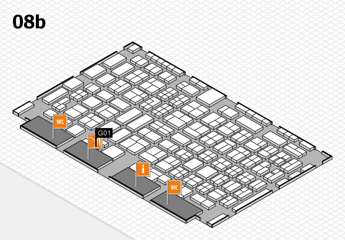 COMPAMED 2016 hall map (Hall 8b): stand G01