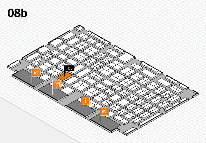 COMPAMED 2016 hall map (Hall 8b): stand F03