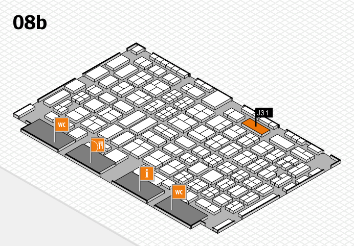 COMPAMED 2016 hall map (Hall 8b): stand J31