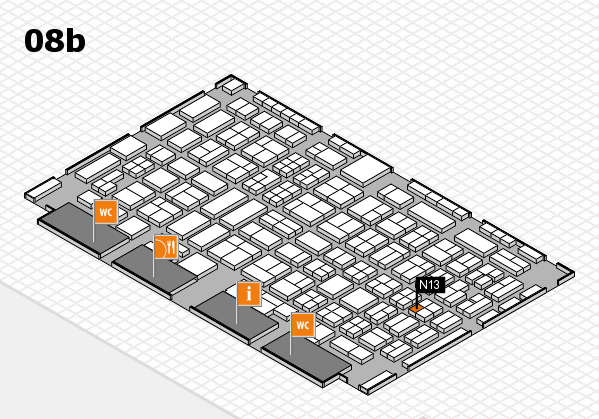 COMPAMED 2016 hall map (Hall 8b): stand N13