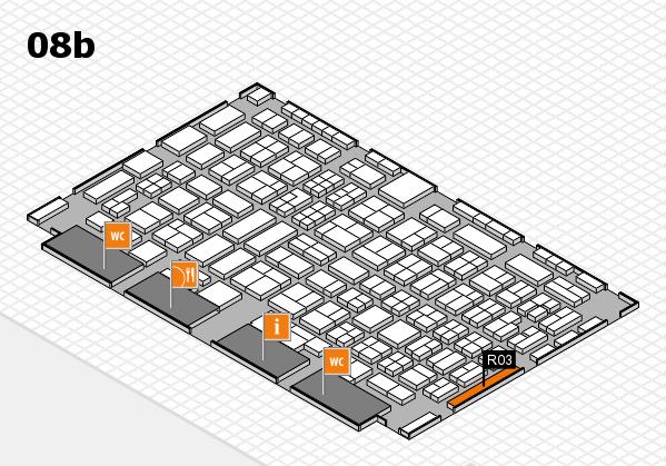 COMPAMED 2016 hall map (Hall 8b): stand R03