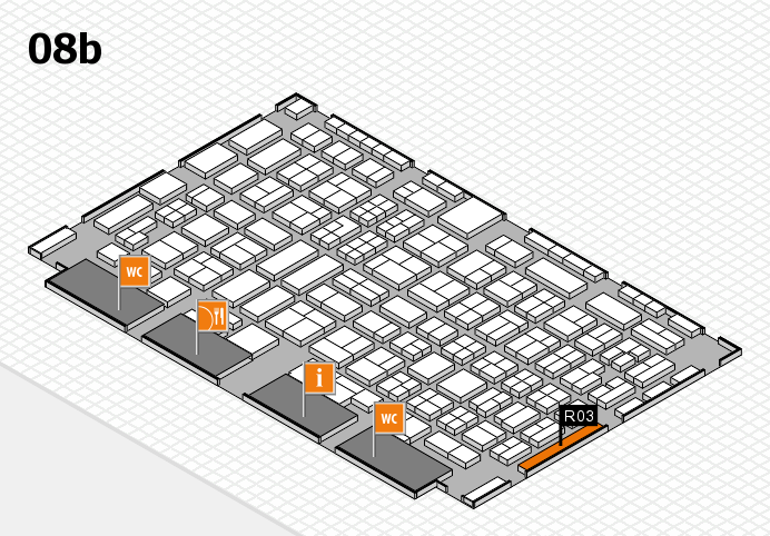 COMPAMED 2016 hall map (Hall 8b): stand R03