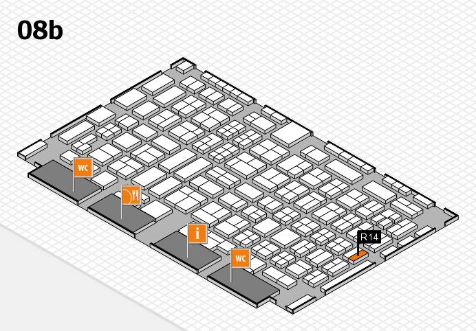 COMPAMED 2016 Hallenplan (Halle 8b): Stand R14