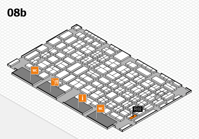COMPAMED 2016 hall map (Hall 8b): stand R02