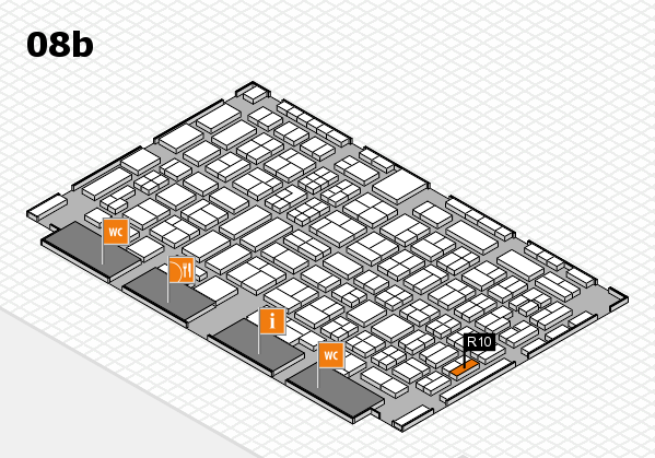 COMPAMED 2016 hall map (Hall 8b): stand R10