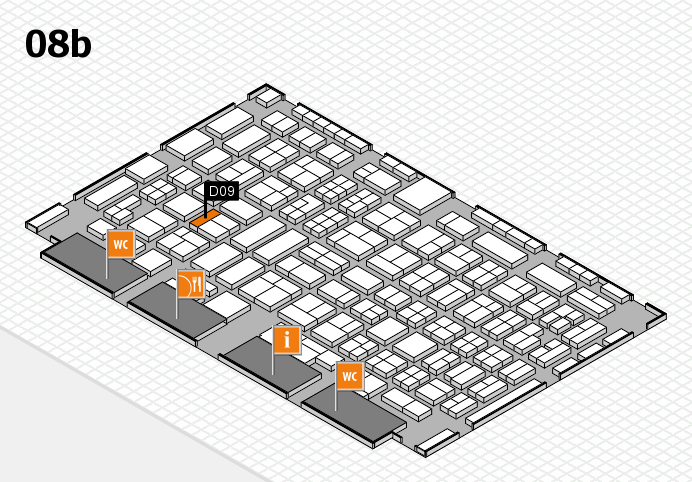 COMPAMED 2016 hall map (Hall 8b): stand D09