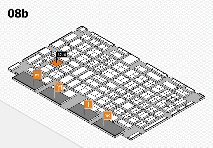 COMPAMED 2016 hall map (Hall 8b): stand C09