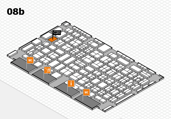 COMPAMED 2016 hall map (Hall 8b): stand C20