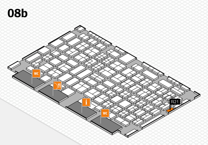 COMPAMED 2016 hall map (Hall 8b): stand R21