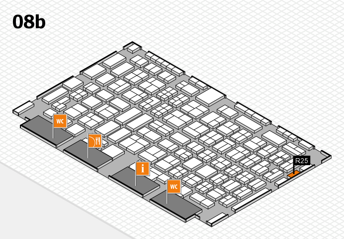 COMPAMED 2016 hall map (Hall 8b): stand R25