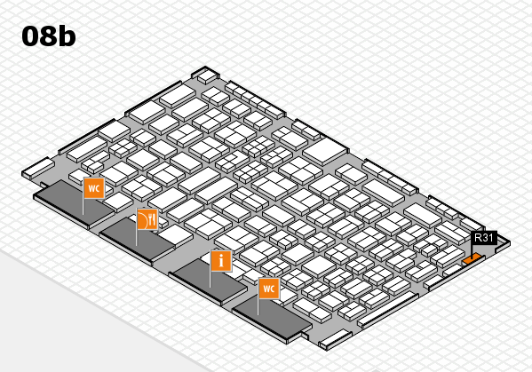 COMPAMED 2016 hall map (Hall 8b): stand R31