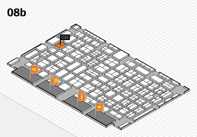 COMPAMED 2016 Hallenplan (Halle 8b): Stand C20