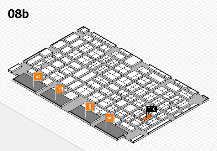 COMPAMED 2016 hall map (Hall 8b): stand P10