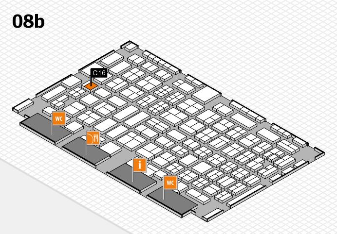 COMPAMED 2016 hall map (Hall 8b): stand C16