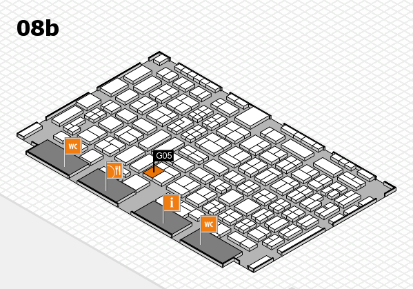 COMPAMED 2016 hall map (Hall 8b): stand G05