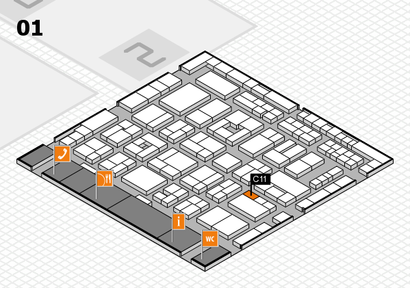 MEDICA 2016 hall map (Hall 1): stand C11