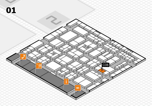 MEDICA 2016 hall map (Hall 1): stand C08