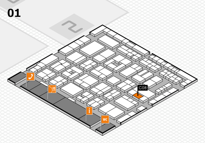 MEDICA 2016 Hallenplan (Halle 1): Stand C08