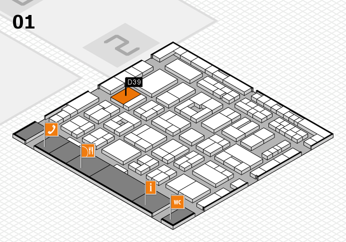 MEDICA 2016 hall map (Hall 1): stand D39