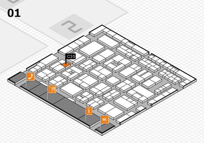 MEDICA 2016 hall map (Hall 1): stand C35