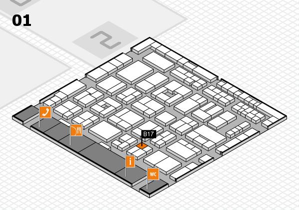 MEDICA 2016 hall map (Hall 1): stand B17