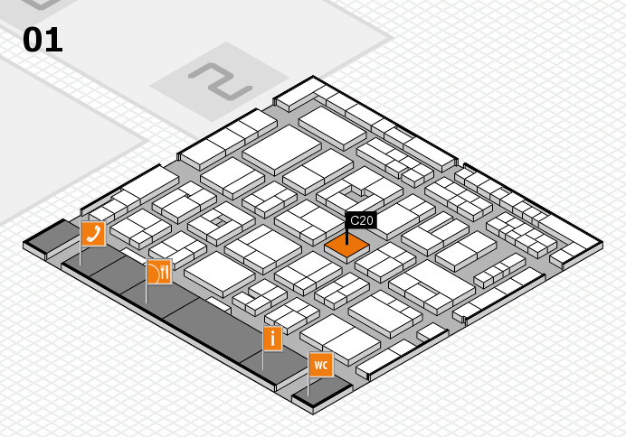 MEDICA 2016 hall map (Hall 1): stand C20
